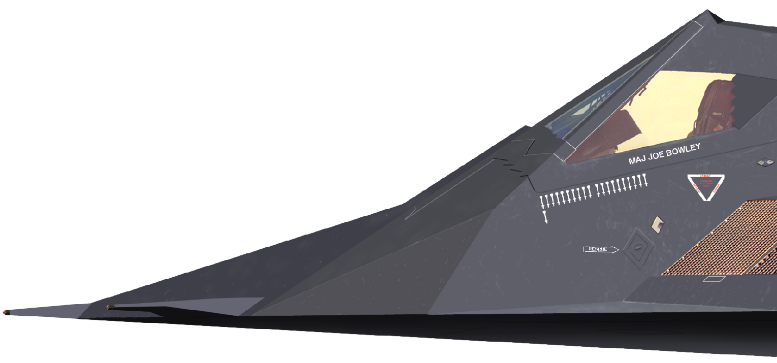 Lockheed F-117 Nighthawk (avión furtivo de ataque USA ) 02.f-117.cu