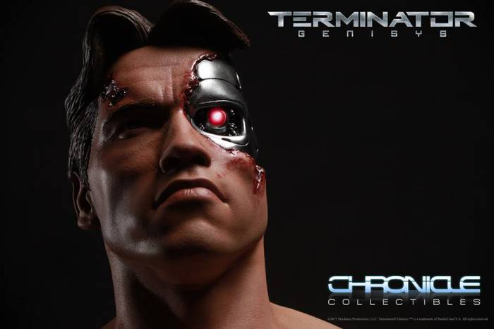 Chronicle Collectibles: 1984 Terminator Genisys Battle Damaged 1:2 Scale Bust Term1