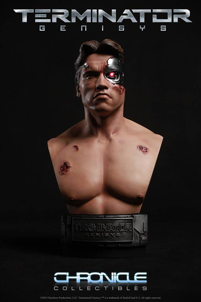 Chronicle Collectibles: 1984 Terminator Genisys Battle Damaged 1:2 Scale Bust Term2