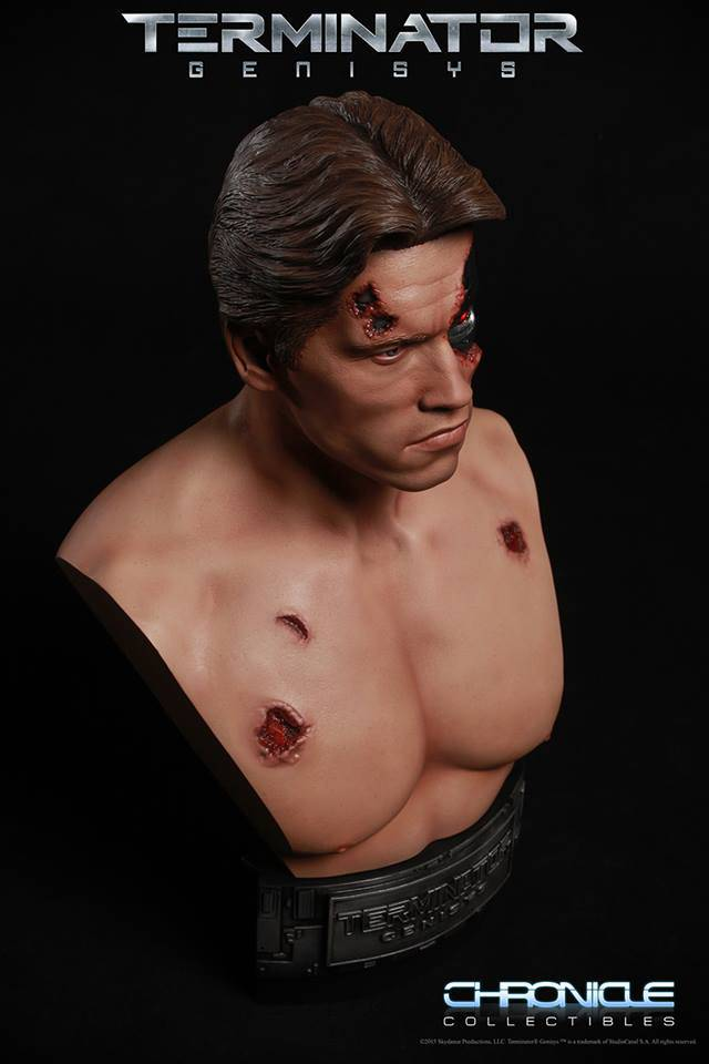 Chronicle Collectibles: 1984 Terminator Genisys Battle Damaged 1:2 Scale Bust Term3