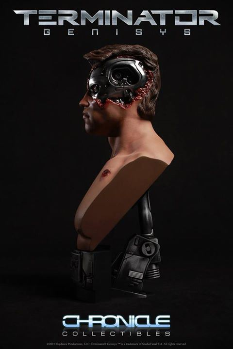 Chronicle Collectibles: 1984 Terminator Genisys Battle Damaged 1:2 Scale Bust Term4