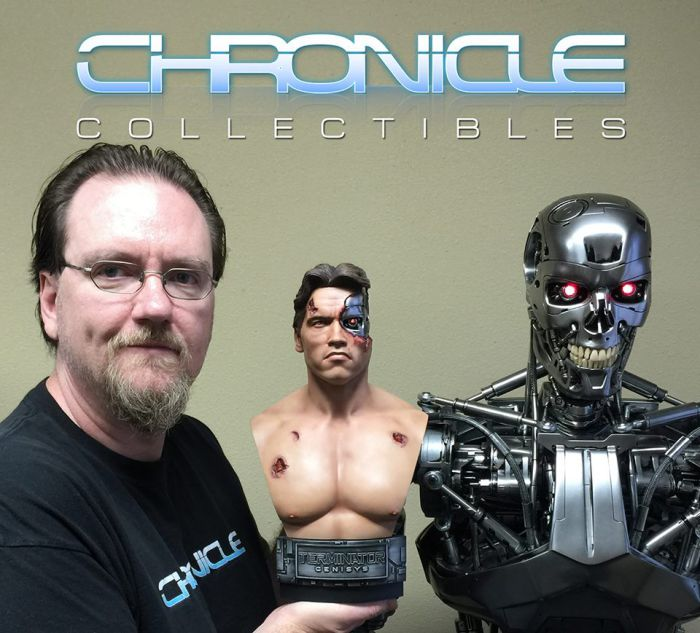 Chronicle Collectibles: 1984 Terminator Genisys Battle Damaged 1:2 Scale Bust Term6