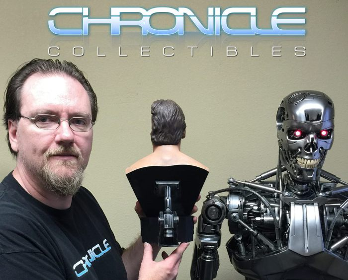 Chronicle Collectibles: 1984 Terminator Genisys Battle Damaged 1:2 Scale Bust Term7