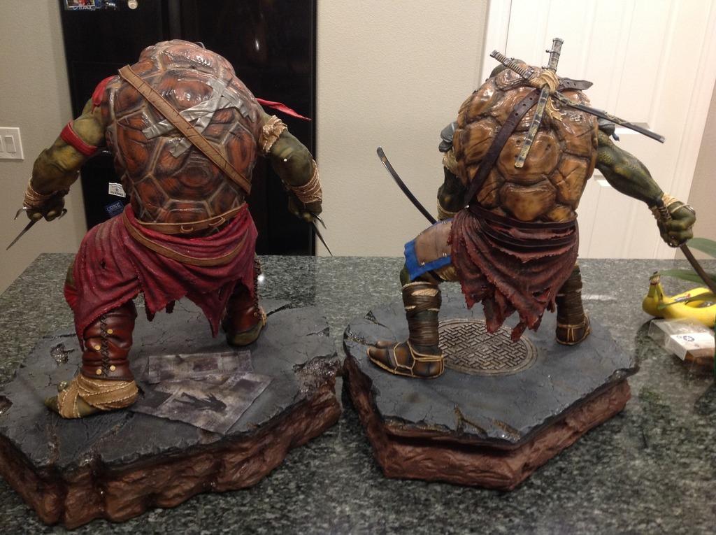 TMNT 2014 - Leonardo 1/4 Statue Double4