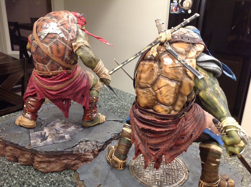TMNT 2014 - Leonardo 1/4 Statue Double5