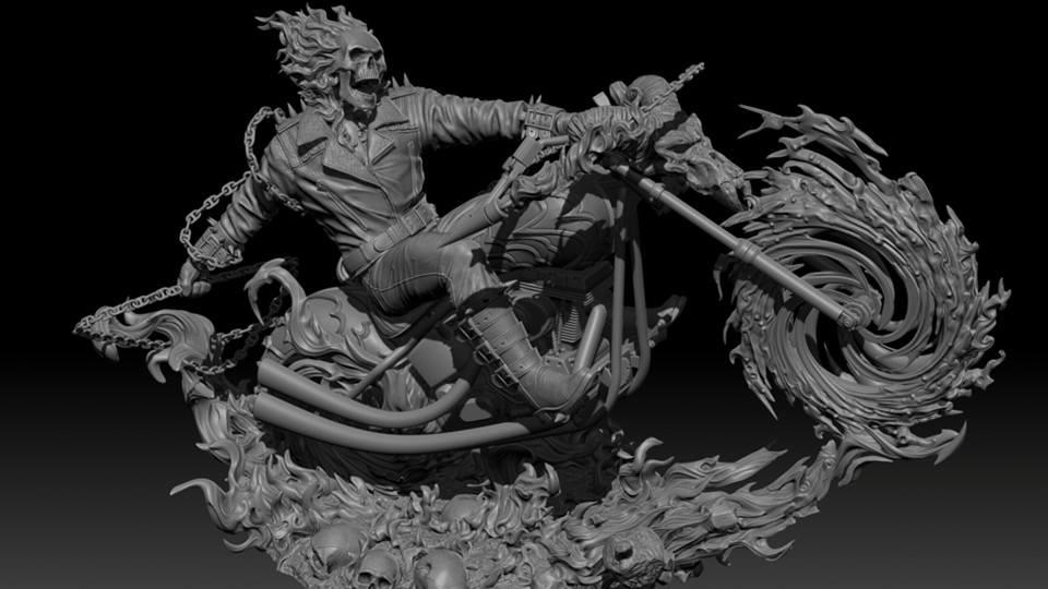 Premium Collectibles : Ghost Rider B7