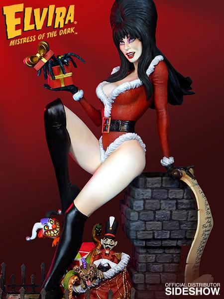 TWEETERHEAD : ELVIRA Scary Christmas Maquette Elvira-scary-christmas-maquette-tweeterhead-902544-01