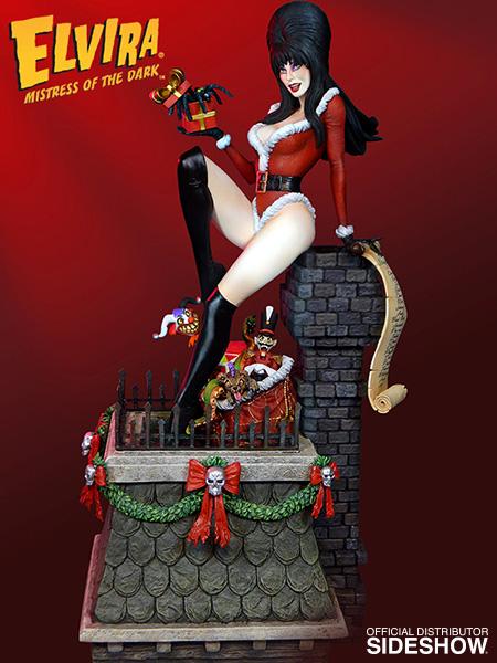 TWEETERHEAD : ELVIRA Scary Christmas Maquette Elvira-scary-christmas-maquette-tweeterhead-902544-02