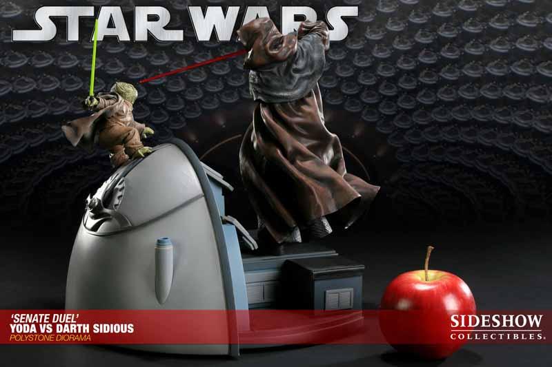 STAR WARS: YODA VS DARTH SIDIOUS Diorama 200017_press07