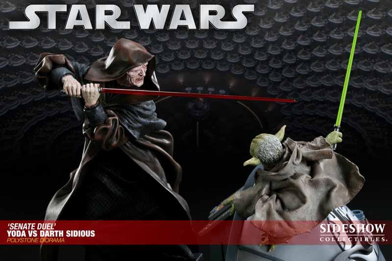 STAR WARS: YODA VS DARTH SIDIOUS Diorama 200017_press10