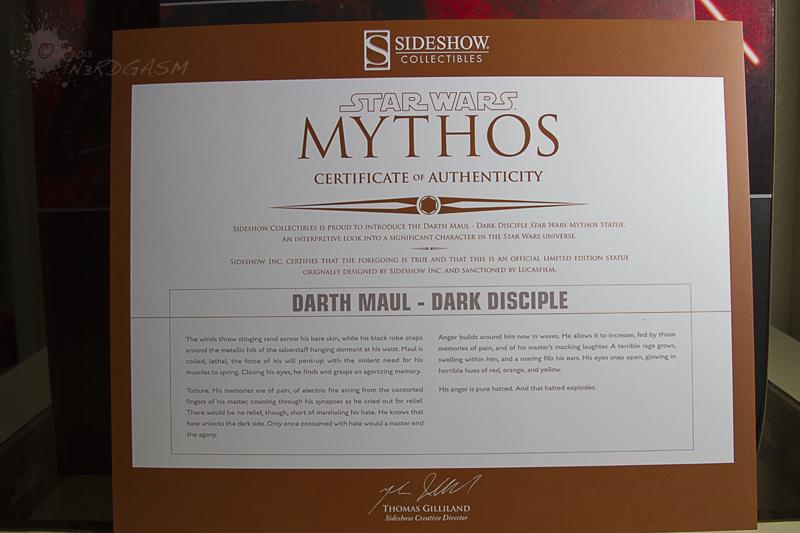 STAR WARS: DARTH MAUL Mythos statue Darth3