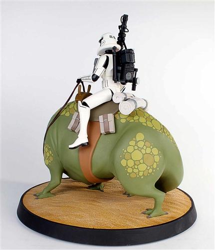 Sandtrooper on Dewback Animated Maquette 80193-6