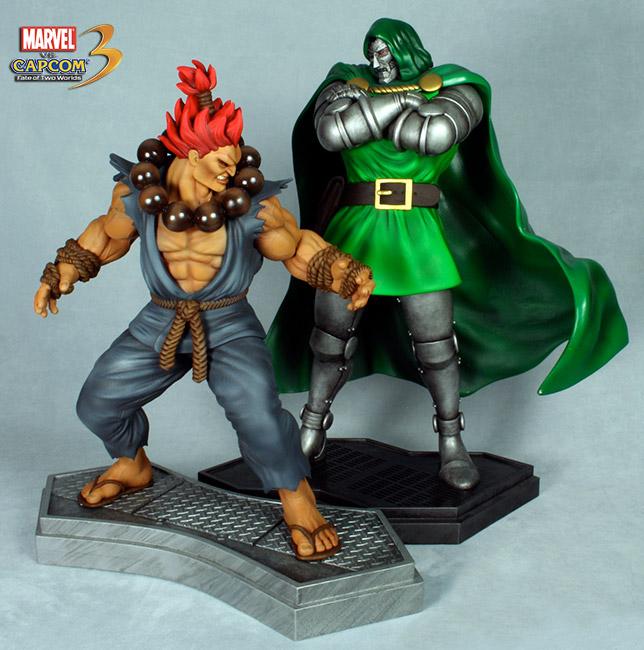 HCG : Marvel vs Capcom 3: 1:4 Scale Dr. Doom vs Akuma Akuma_doom1