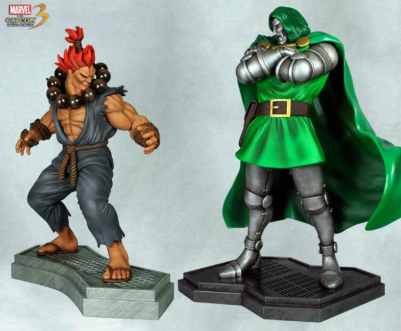 HCG : Marvel vs Capcom 3: 1:4 Scale Dr. Doom vs Akuma Akuma_doom2