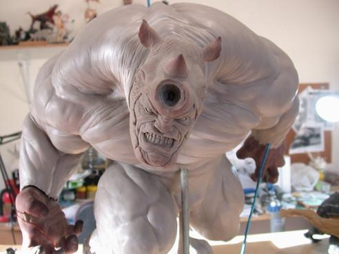 RHINO Comiquette Rhino_sculpture_process_2_by_loqura-d4zyqye