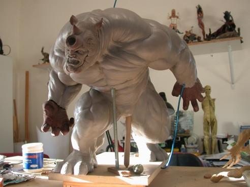 RHINO Comiquette Rhino_sculpture_process_by_loqura-d4zyq5e