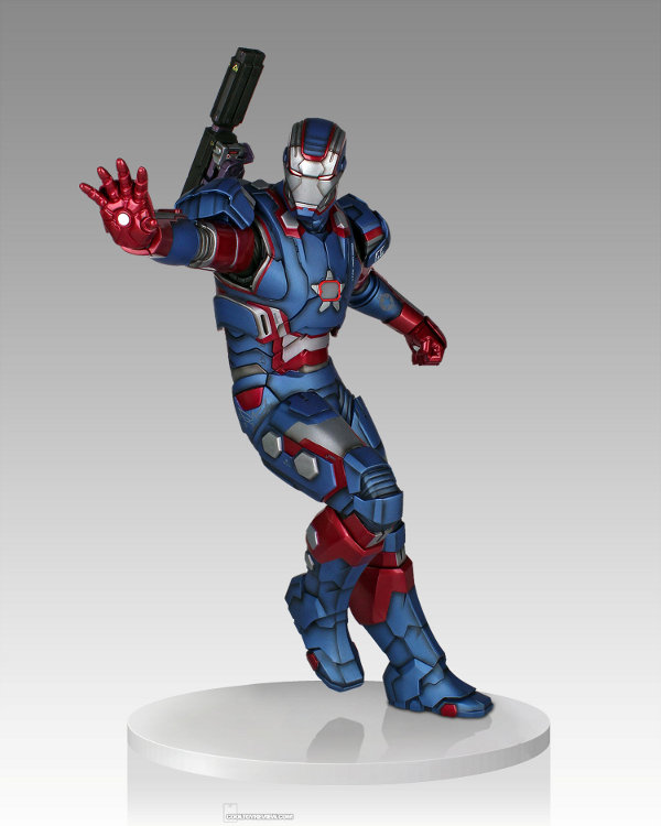 IRON PATRIOT 1/4 STATUE GENTLE GIANT Gentle-giant-iron-patriot-statue-1-121813