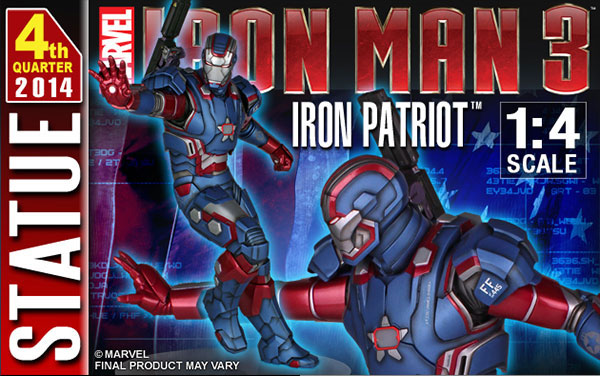 IRON PATRIOT 1/4 STATUE GENTLE GIANT Gentle-giant-iron-patriot-statue-121813