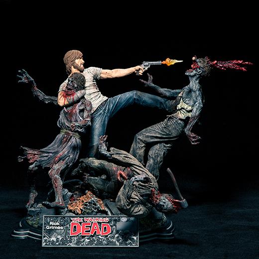 McFarlane Toys : THE WALKING DEAD - RICK GRIMES resin statue McFarlane-Rick-Grimes-front-shot
