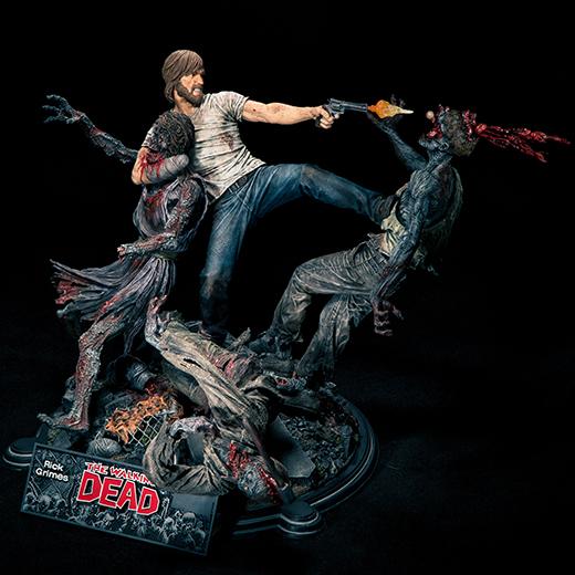 McFarlane Toys : THE WALKING DEAD - RICK GRIMES resin statue McFarlane-Toys-Rick-Grimes-Action