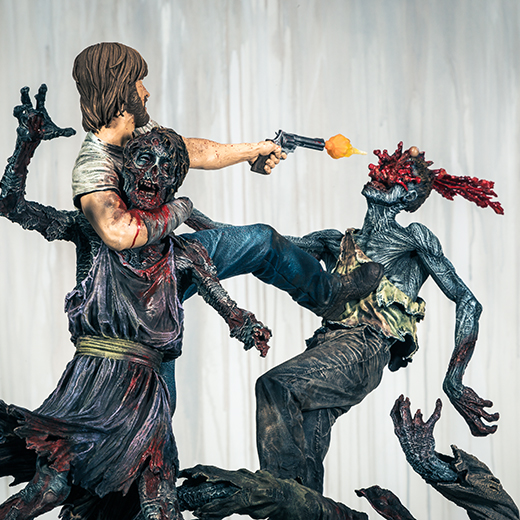 McFarlane Toys : THE WALKING DEAD - RICK GRIMES resin statue McFarlane-Toys-Rick-Grimes-on-white
