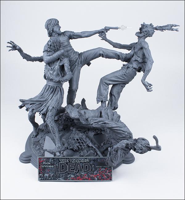 McFarlane Toys : THE WALKING DEAD - RICK GRIMES resin statue McFarlane-Toys-Rick-Unpainted