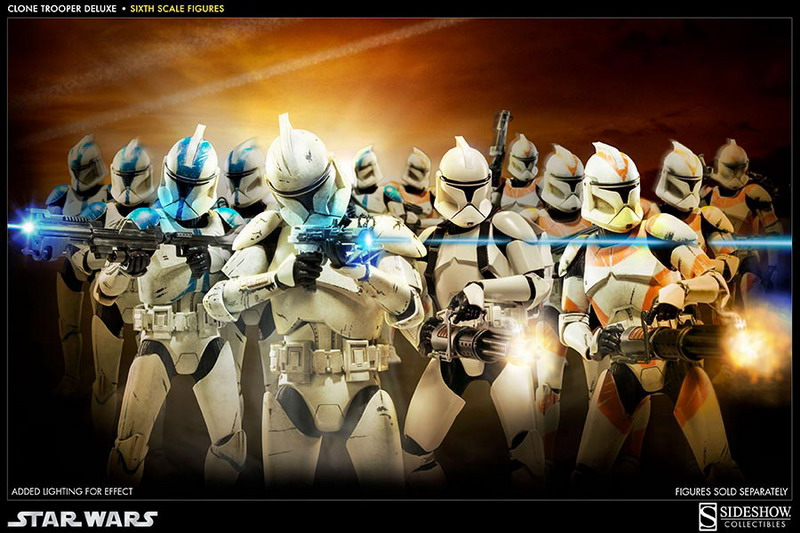 STAR WARS: CLONE TROOPER DELUXE SHINY sixth scale figure 1-Clone_trooper_deluxe_shiny-