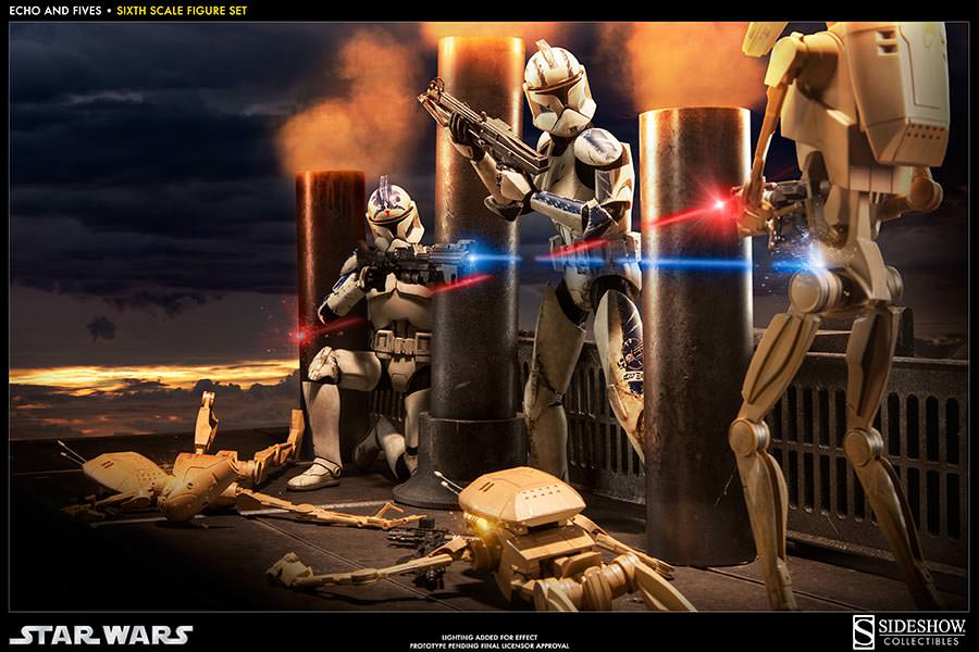 STAR WARS: CLONE TROOPERS ECHO and FIVES SET Sixth scale figure 100201_press01-001