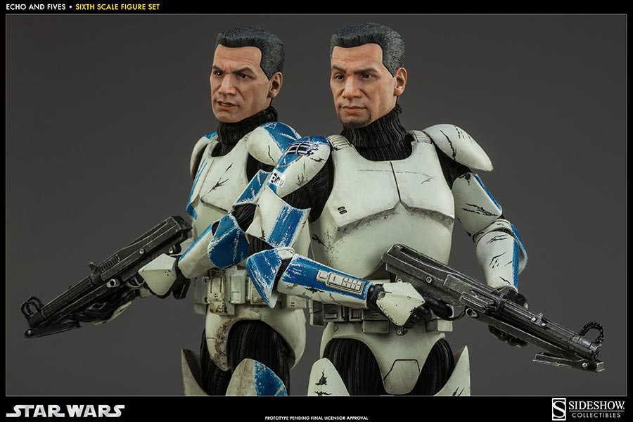 STAR WARS: CLONE TROOPERS ECHO and FIVES SET Sixth scale figure SIDESHOW_COLLECTIBLES_STAR_WARS_1-6_SCALE_CLONE_TOOPER_2-PACK_03