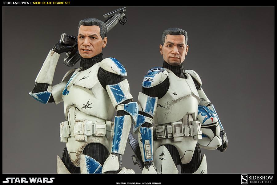 STAR WARS: CLONE TROOPERS ECHO and FIVES SET Sixth scale figure SIDESHOW_COLLECTIBLES_STAR_WARS_1-6_SCALE_CLONE_TOOPER_2-PACK_04