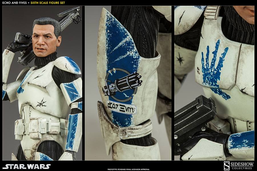 STAR WARS: CLONE TROOPERS ECHO and FIVES SET Sixth scale figure SIDESHOW_COLLECTIBLES_STAR_WARS_1-6_SCALE_CLONE_TOOPER_2-PACK_06