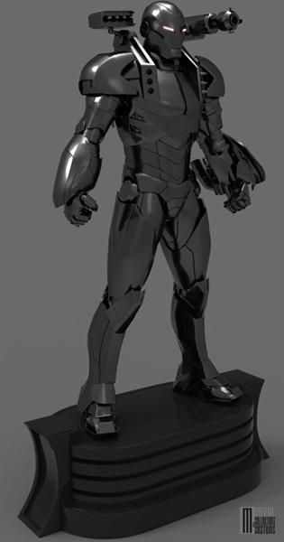 """Statue WAR-MACHINE """"modern"""" War-Machine_modern_WIP2_copie"""