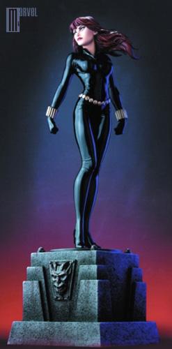 """CAPTAIN MARVEL """"Phyla-Vell"""" - Statue - John A.Ficchi Veuve_Noire_photo_officielle_forummc"""