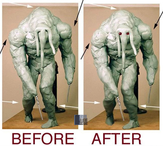 Statue HOMME-CHOSE (Man-Thing) Homme-Chose_WIP1_copie