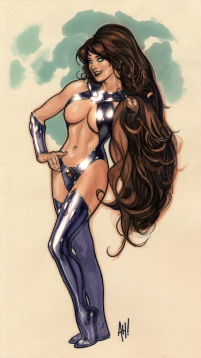 COVER GIRL OF THE DC UNIVERSE : STARFIRE Starfire_Adam_hughes