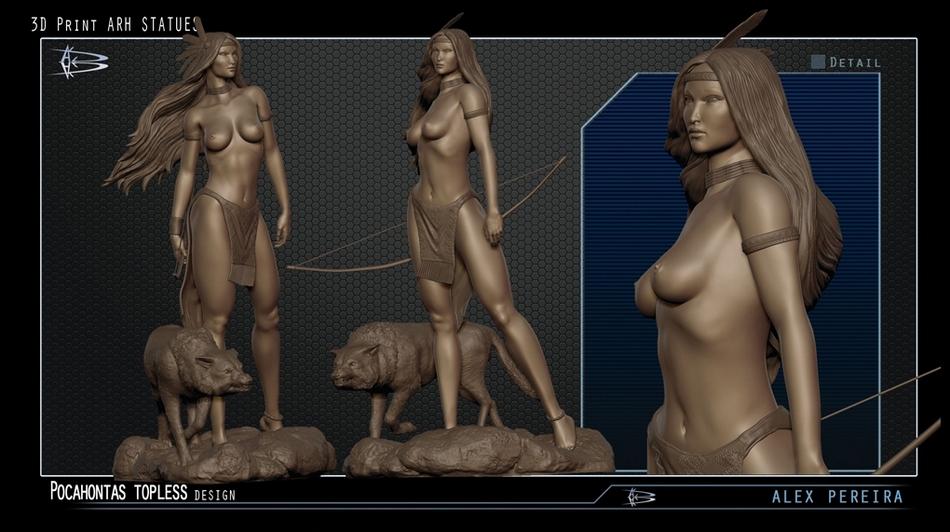 Les Travaux D' Alejandro ( Alex ) Pereira Pocahontas_ARH_alex_peireira_statue__Copier_