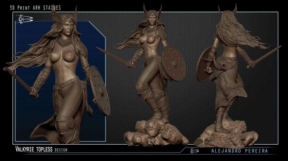 Les Travaux D' Alejandro ( Alex ) Pereira Valkyrie_ARH_alex_peireira_statue_2__Copier_