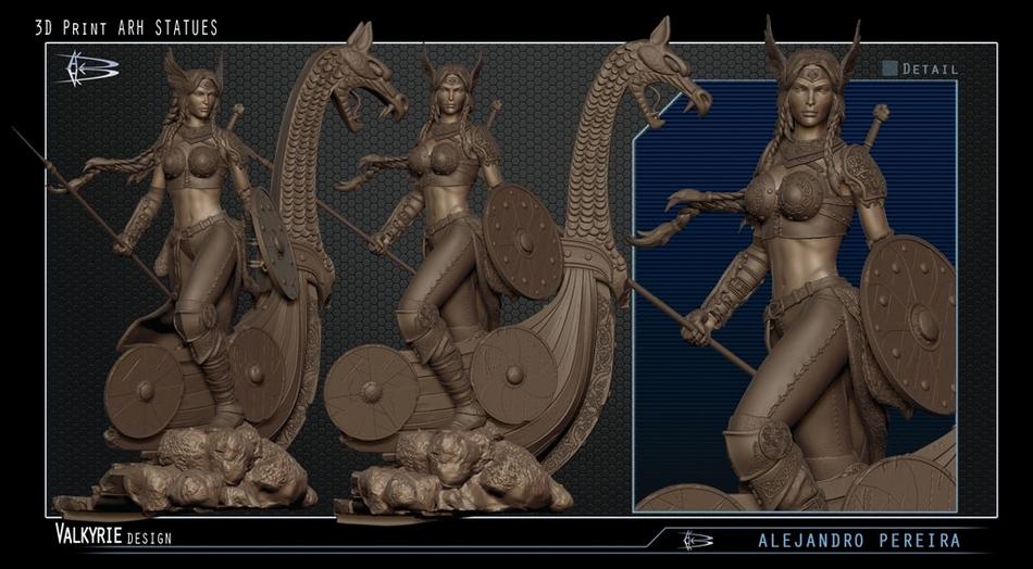 Les Travaux D' Alejandro ( Alex ) Pereira Valkyrie_ARH_alex_peireira_statue__Copier_
