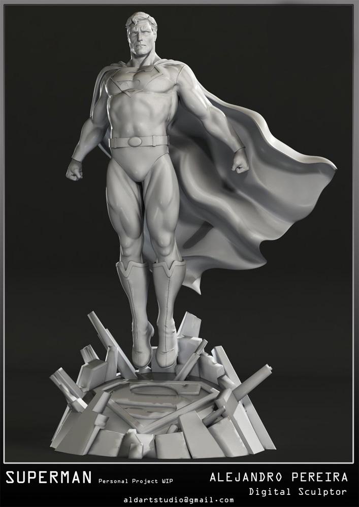Les Travaux D' Alejandro ( Alex ) Pereira Superman__Alex_Peireira_statue