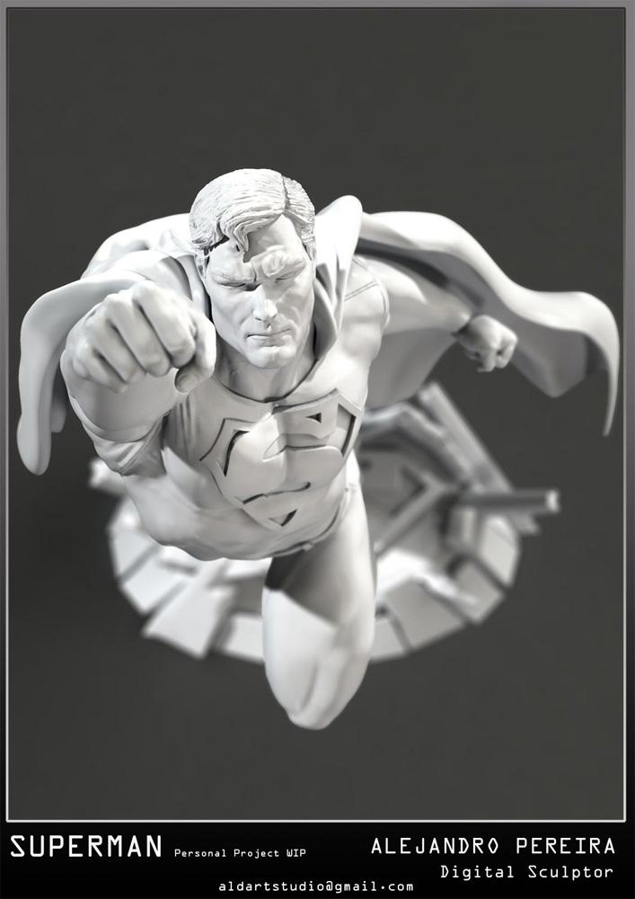 Les Travaux D' Alejandro ( Alex ) Pereira Superman_fly