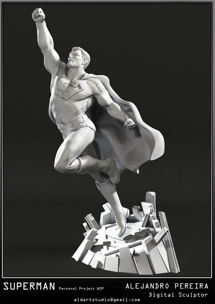 Les Travaux D' Alejandro ( Alex ) Pereira Superman_fly_Alex_Peireira_statue