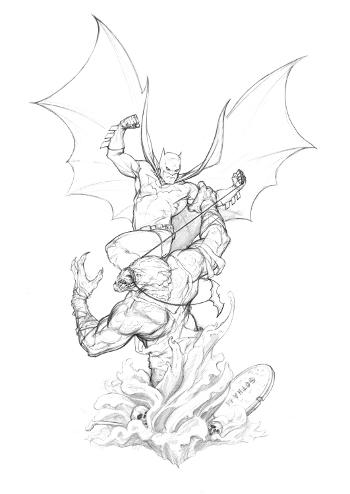 BATMAN VS KILLER CROC STATUE - DC CLASSIC CONFRONTATIONS - PICS! Batman_vs_Killer_Croc_concept_small_