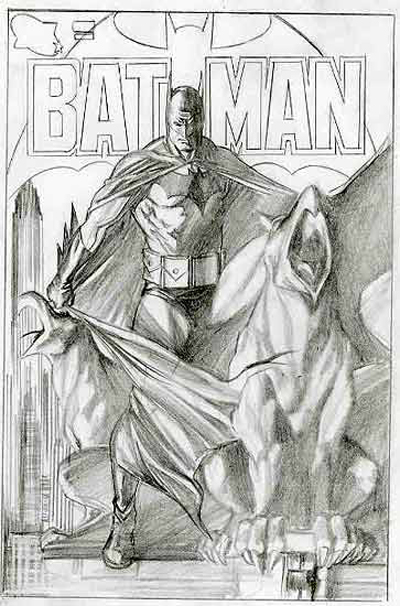 BATMAN BLACK & WHITE #11 : ALEX ROSS Batmancover_cape_full