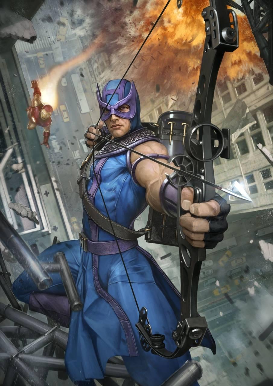Premium Collectibles : Hawkeye - Comics version - Page 2 Hawheye_art_xm_studios