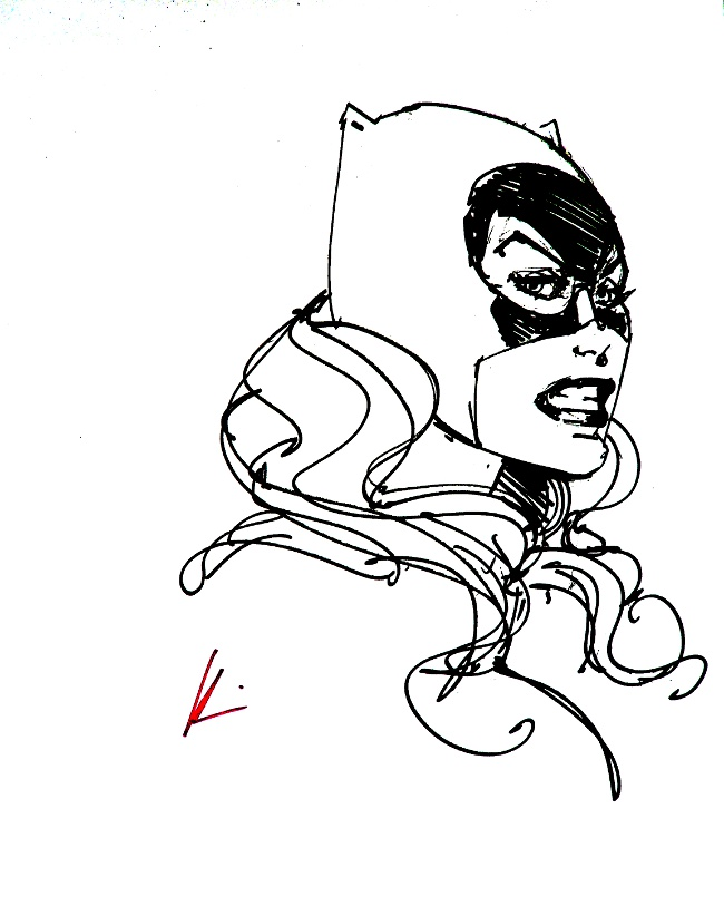 GREEN GALLERY 2_Howard_Chaykin_Catwoman_art_prints_-_SIGNED___