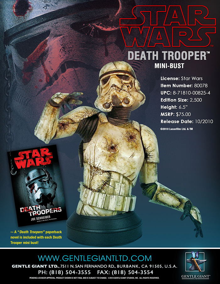 STAR WARS: DEATH TROOPER MINI BUST DEATHTROOPER_MINI__BUST_05