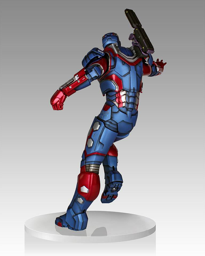 IRON PATRIOT 1/4 STATUE GENTLE GIANT IRON_PATRIOT_STATUE_GENTLE_GIANT_03