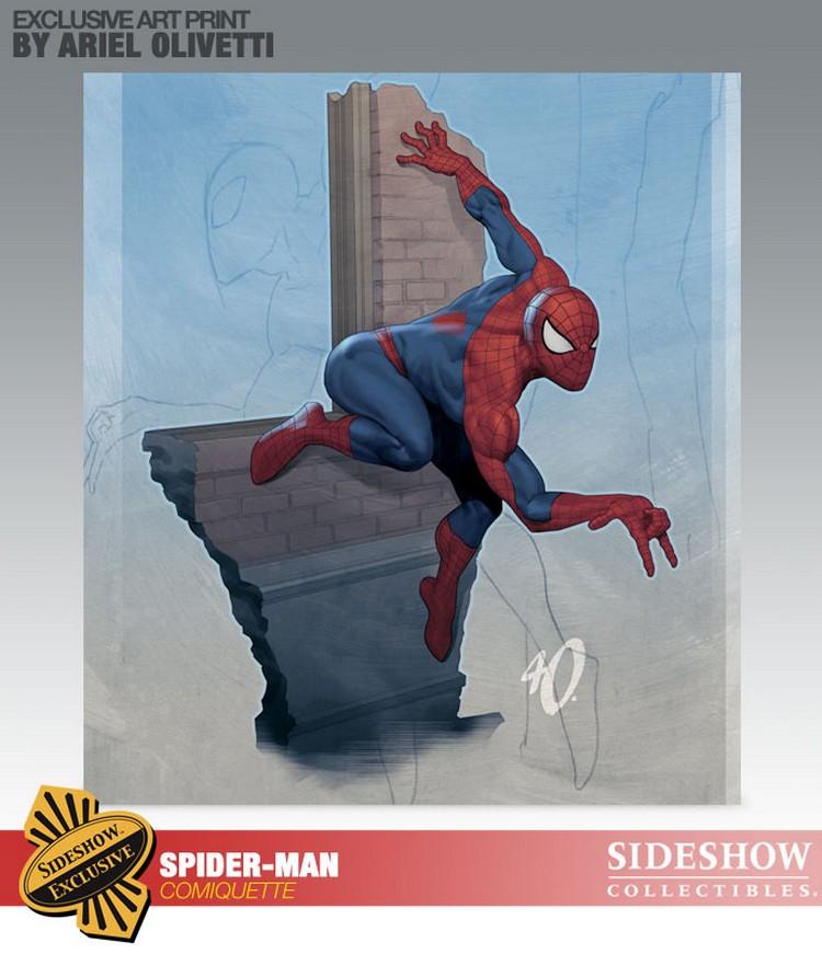 """SPIDERMAN """"ARIEL OLIVETTI"""" Comiquette Spiderman_200065_press_24__Copier_"""