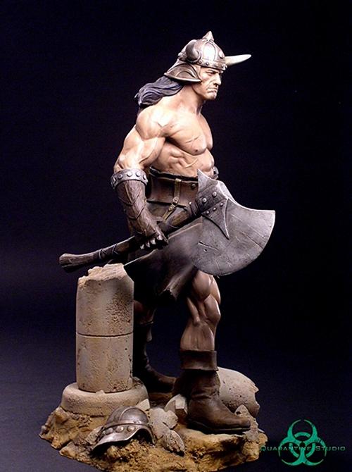 QUARANTINE STUDIO : CONAN THE BRUTAL Conan_the_brutal_statue_quarantine_studio_07