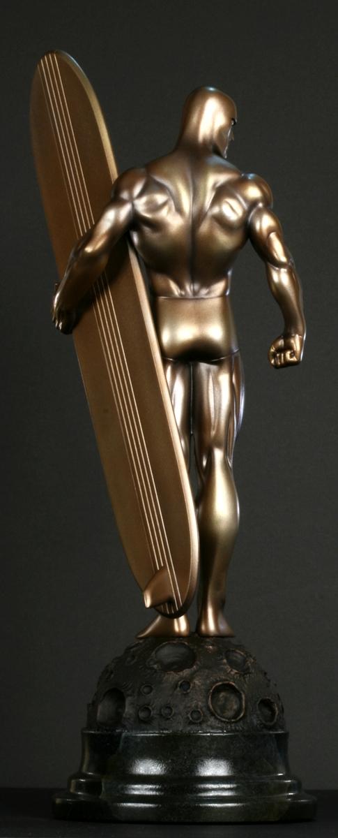 """Statue SURFER D'ARGENT (Silver Surfer) """"Faux Bronze"""" FB_Surfer_2"""